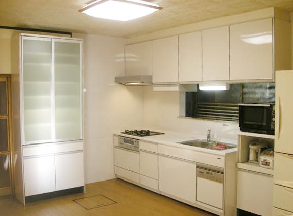 滋賀県犬上郡多賀町 キッチン、リビング内装改修 施工後