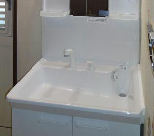 洗面台の交換リフォーム