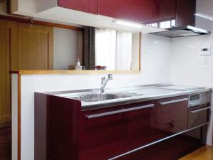 素敵なカラーのキッチンになりました。