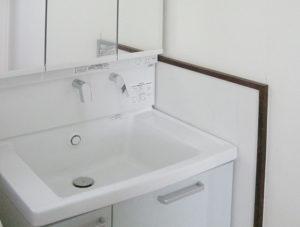 大きな洗面ボウルは、お洗濯にも使えます。