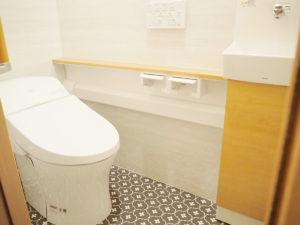 タンクレス風のオシャレなトイレ