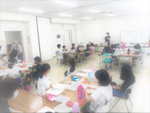 夏休みのガラスアート体験教室①